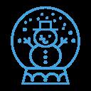 decoration, snowglobe, snowman, decor, man, snow icon