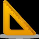 triangle, ruler icon
