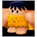 cartoon, caveman icon