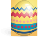 red, yellow, egg, easter icon