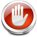 stop, hand icon