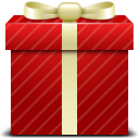 red, gift icon