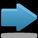 Arrow, Blue, Forward, Right icon