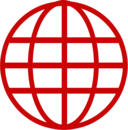line globe icon