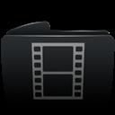 Black, Folder, Movies icon