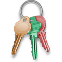 Key, Keychain, Lock, Locked, Password, Security icon