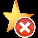 favorite remove icon