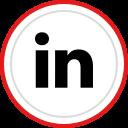 linkedin, logo, social, media, brand icon
