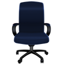 Blue, Chair, Office icon