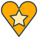 star, social, media, heart, favourite, communication icon