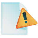 exclamation, paper, document, file, error, alert, wrong, warning icon