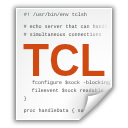 tcl, x, text icon
