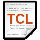 tcl, x, text icon