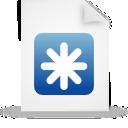 document, file, paper, blue icon
