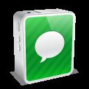 mini, iphone, white icon