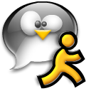 penguin, chat, running, man, tux icon