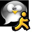 penguin, chat, running, man, tux icon