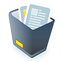 recycle bin, full, garbage icon