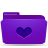favorite, folder, violet icon