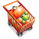 shoppingcart,full,christmas icon