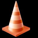 vlc, cone, traffic icon