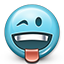 smiley, smiley face, flirty, tongue, joke, emot, toungue out icon