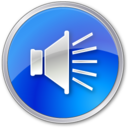 volume,normal,blue icon