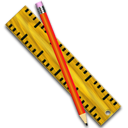kruler, measure, pencil, paint, writing, edit, ruler, write, pen, draw icon