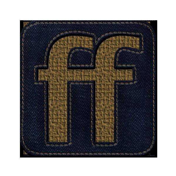 friendfeed, denim, jean, square, social, logo icon