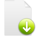 descend, descending, file, fall, document, decrease, paper, down, download icon