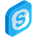 social, communication, skype, network, media, online icon