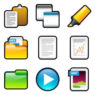 Soft Scraps icon sets preview
