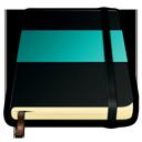 turquoise, moleskine icon