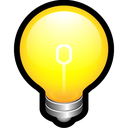 think, create, on, idea, bulb, alert icon