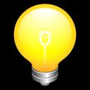 think, create, on, idea, bulb, alert icon