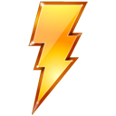 yellow, power, restart, lightning, quick icon