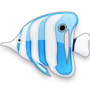 blue,fish icon