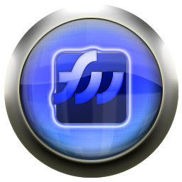 firework, blue icon