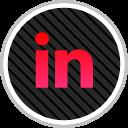 linkedin, social, media, online icon
