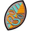tiki, protect, guard, shield, security icon
