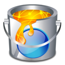 color, bucket, fill icon