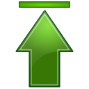 Actions green arrow up top icon