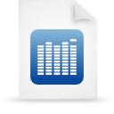 document, blue, paper, file icon