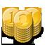 base, stacks, gold, coin icon