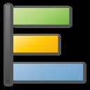 poll, blue icon