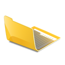 open, folder, yellow icon
