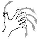 finger, rotate, n, gestureworks icon