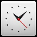 Clock, White icon