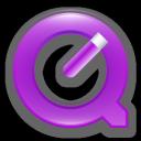 violet, quicktime icon
