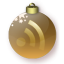 christmas, feed, gold, subscribe, rss icon